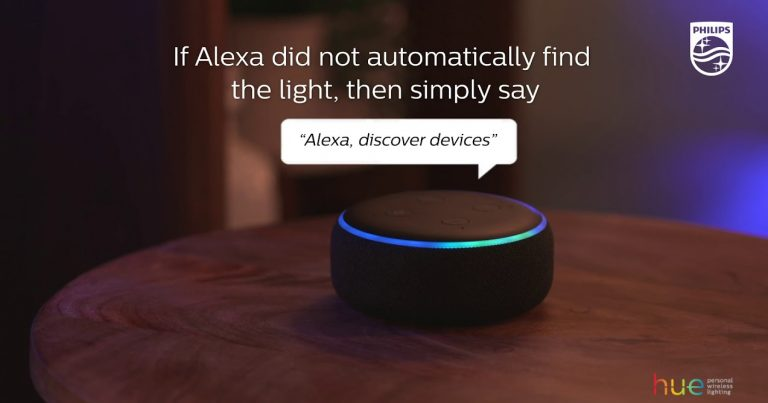 How to connect Philips Hue lights with Amazon Alexa
