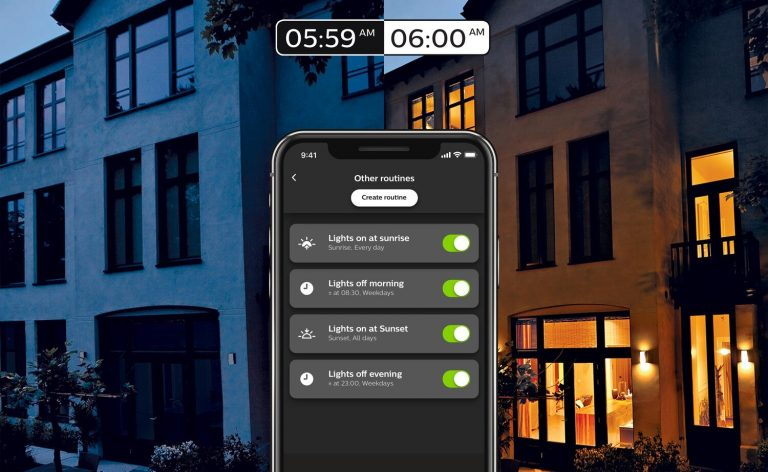How to setup your Philips Hue lights to automatically turn on at sunrise/sunset